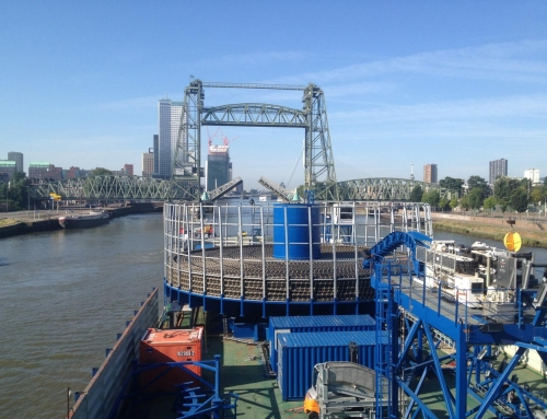 Rhine transport of Cable transport barge